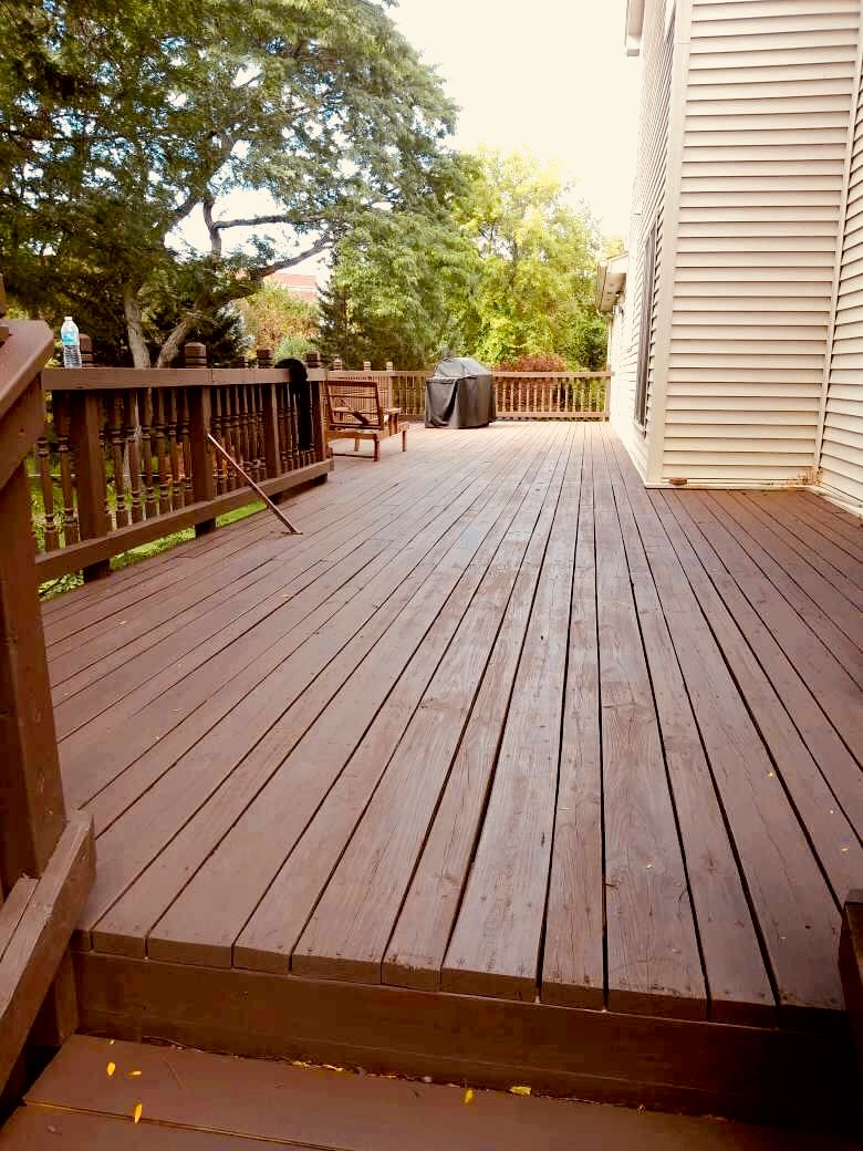 Deck stain solid color