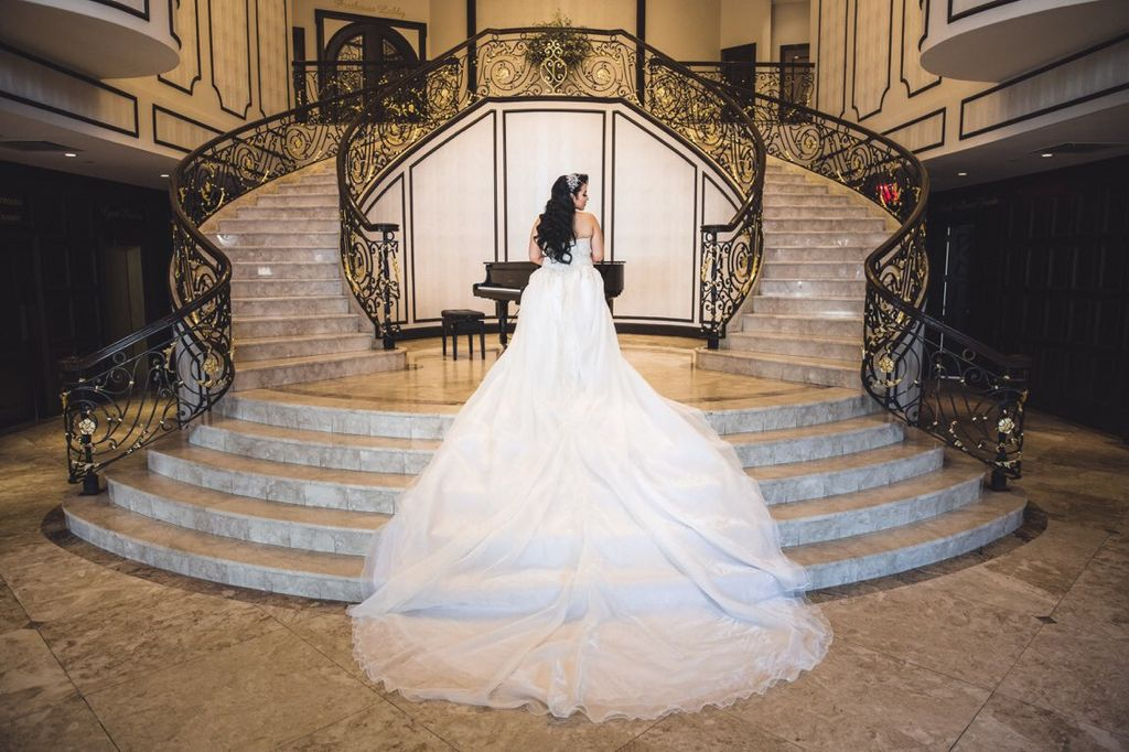 Custom Wedding dress train with lace