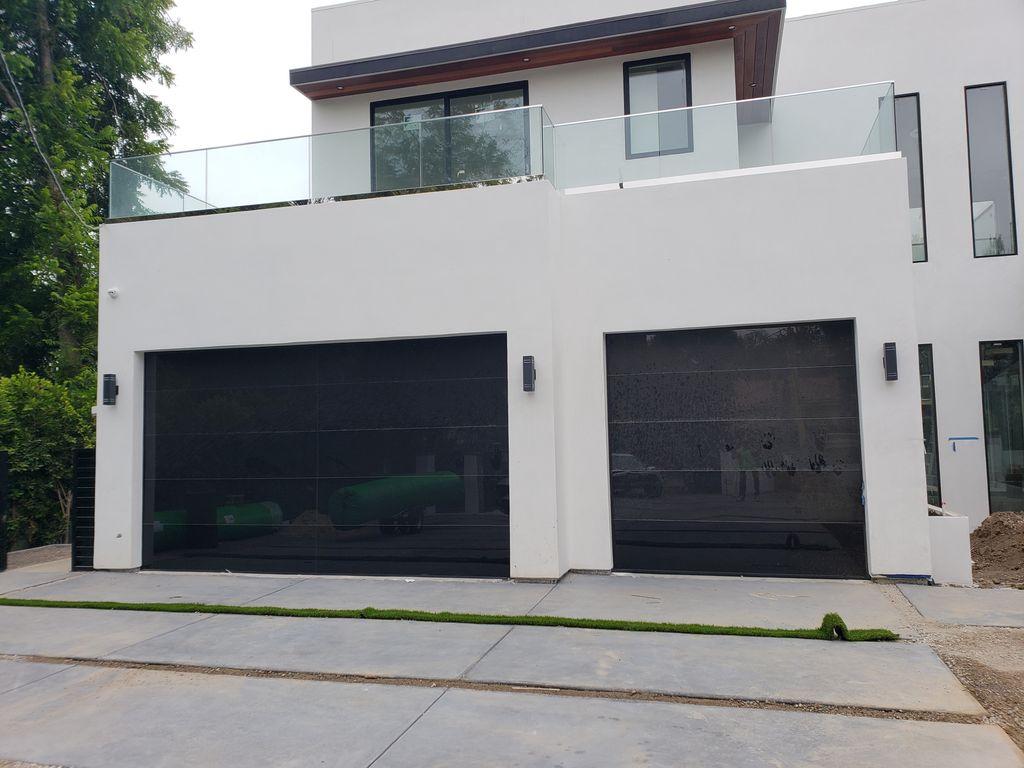 Frameless Glass Garage Door