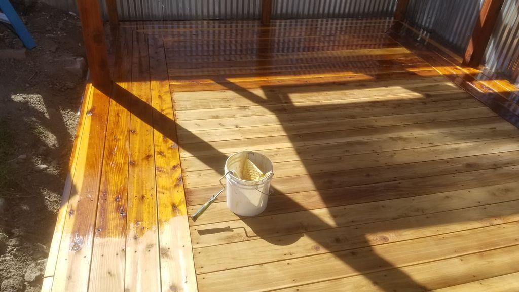Deck clear coat