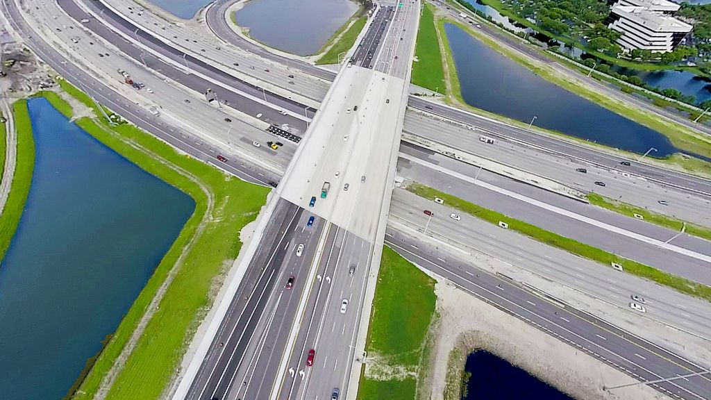 Aerial of i75 Overpass