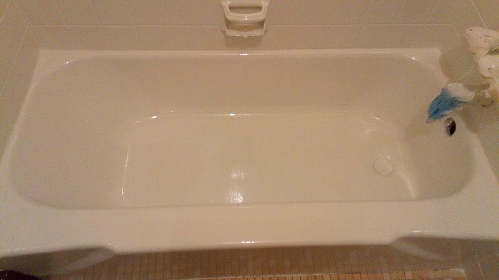 Refinishing tub and tile