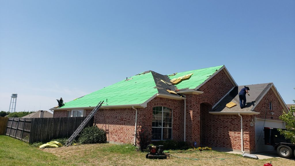 New home that needed storm repair