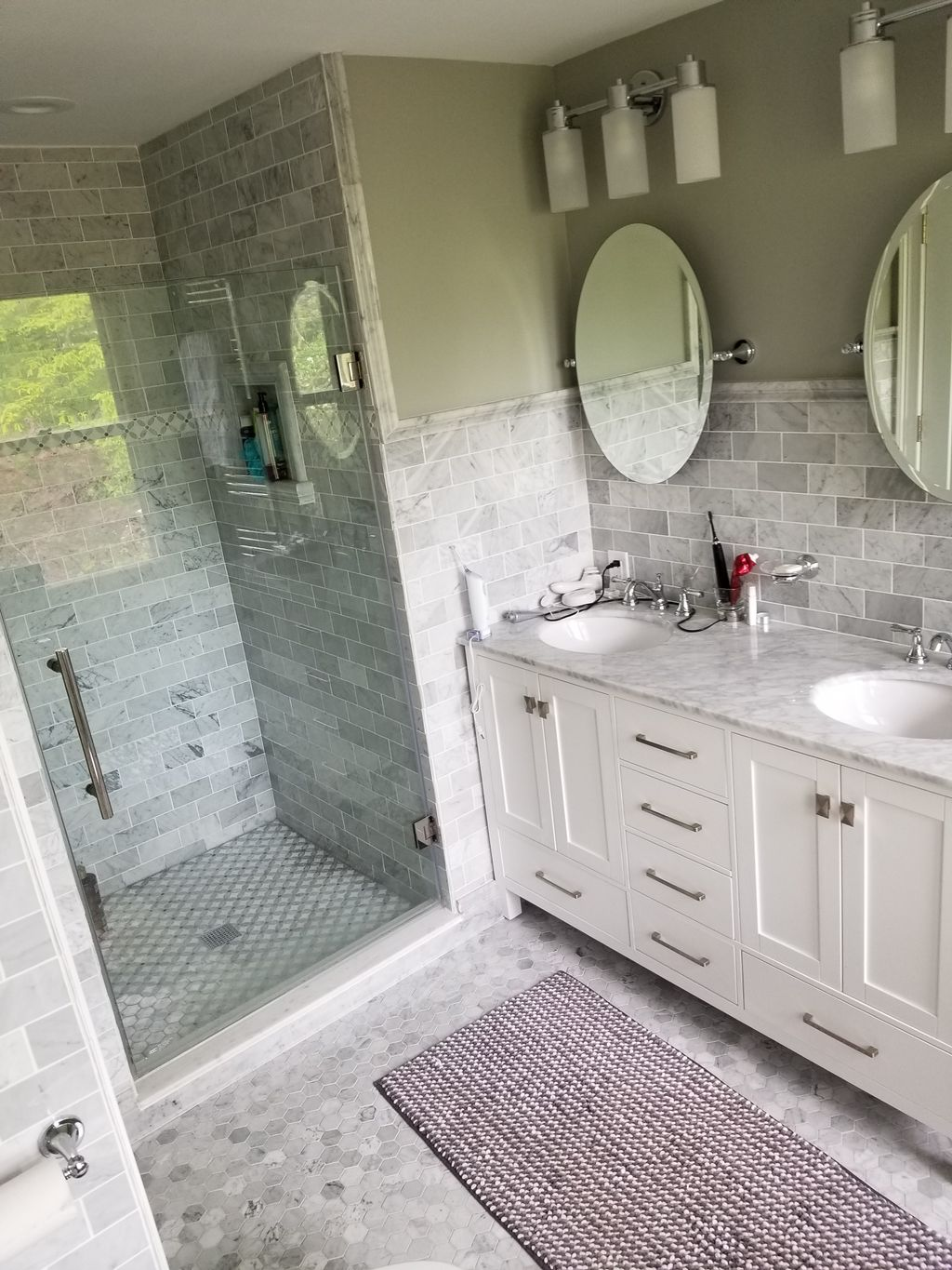 Marble bath full gut renovation