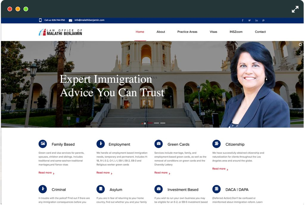 Professional Law Firm Website