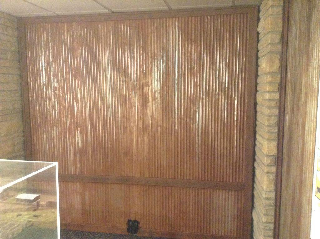 Loveland History Faux rust wall