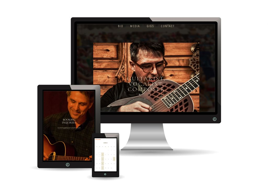 Website for a Musician