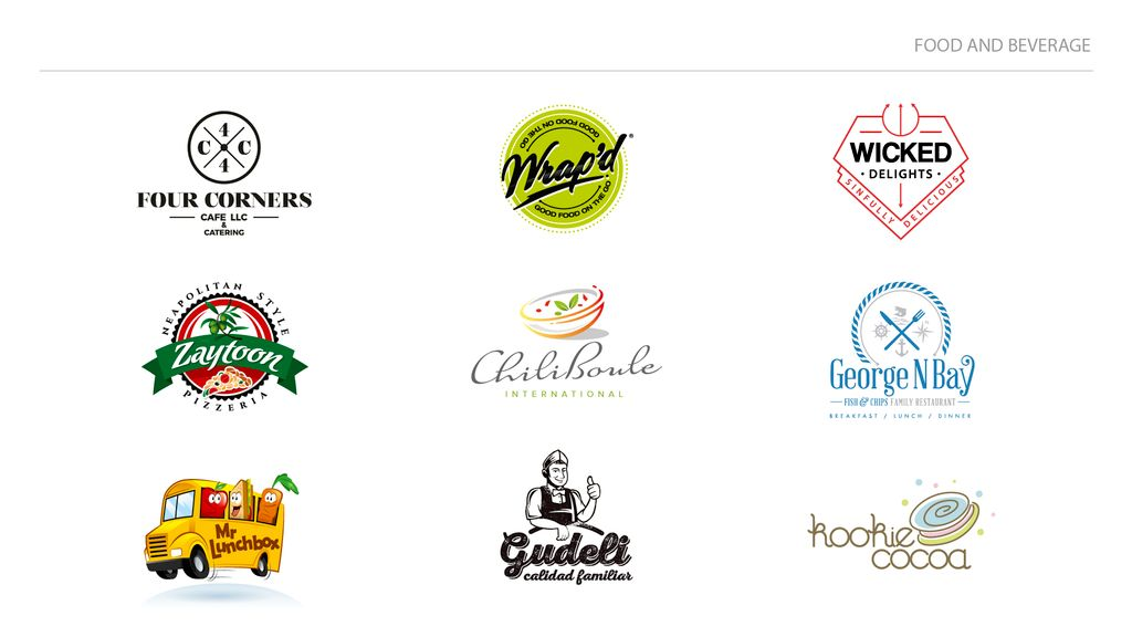 Food and beverage logo