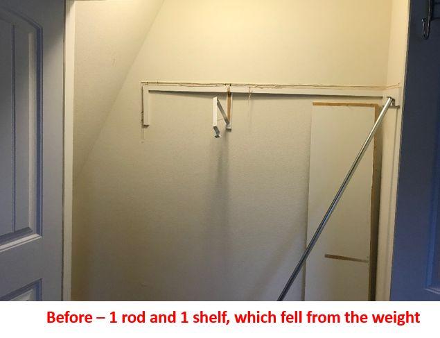 Repair Closet - Expand Storage
