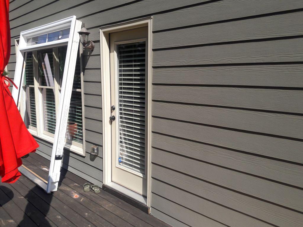 Replacing single entry door with a French door