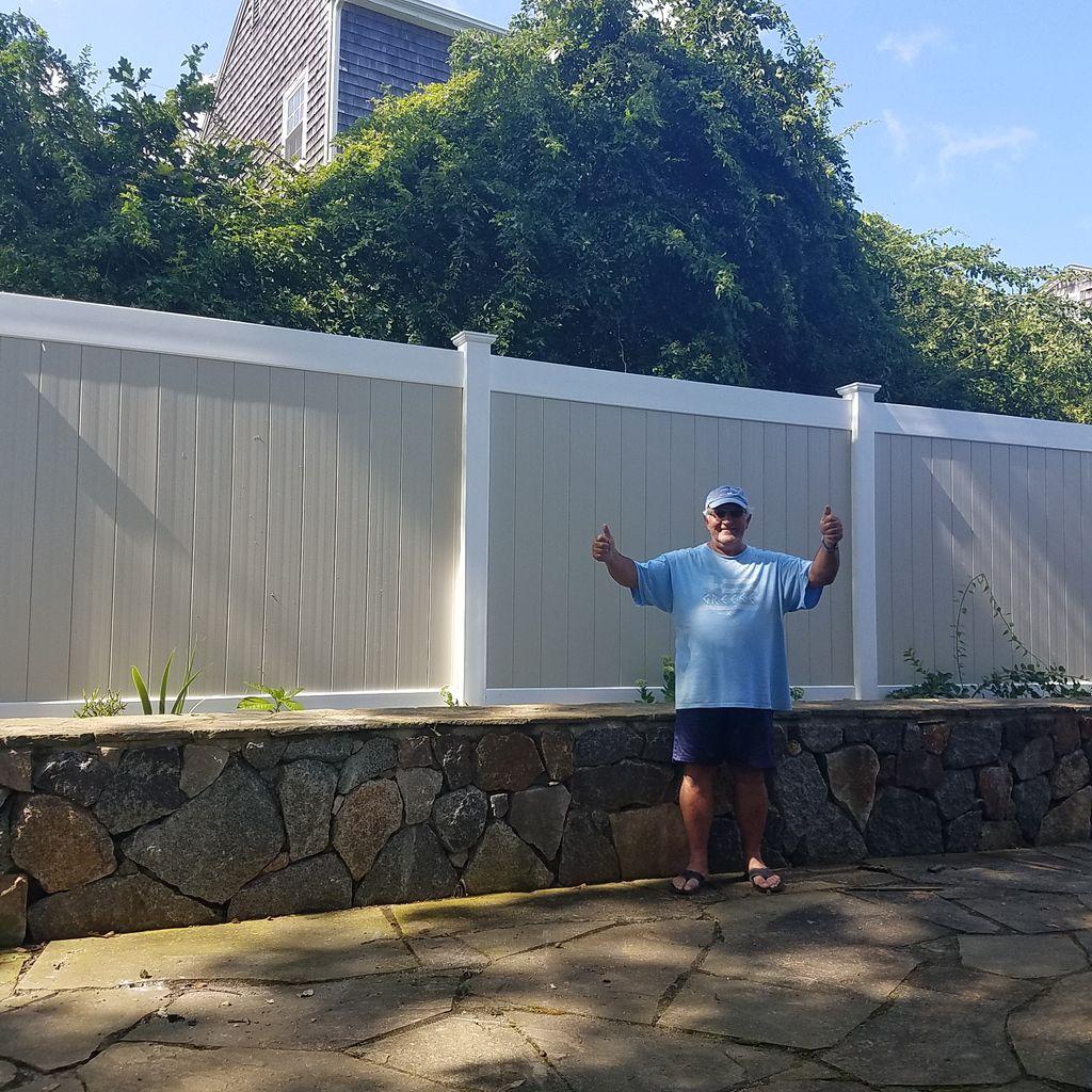 PVC Vinyl fence installs