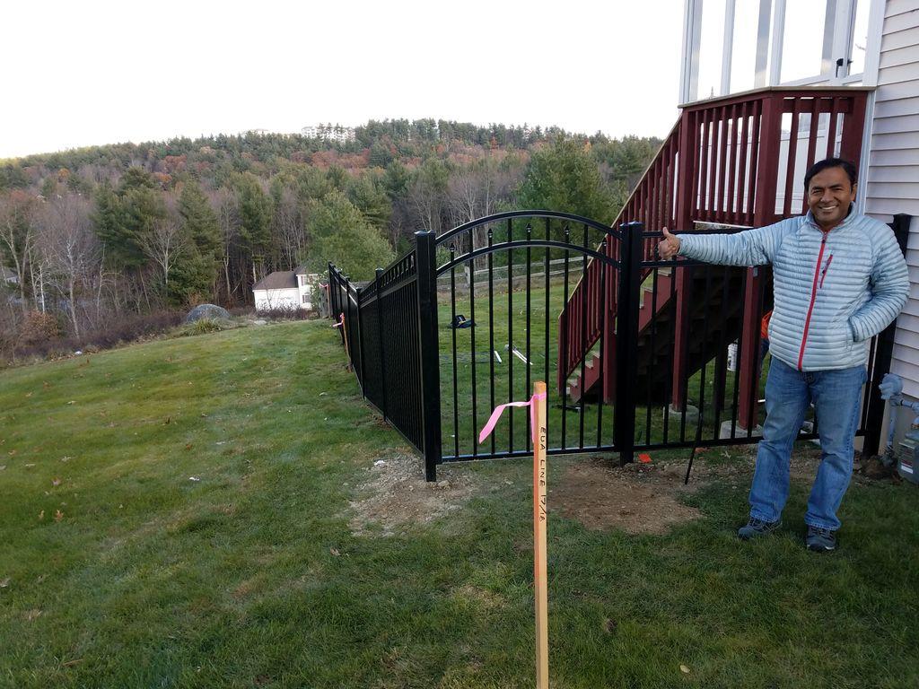 Aluminum Oriental   Fence  installs