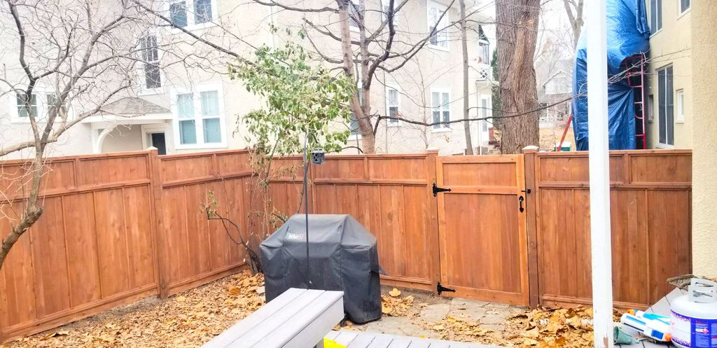 Residential backyard privacy fence project