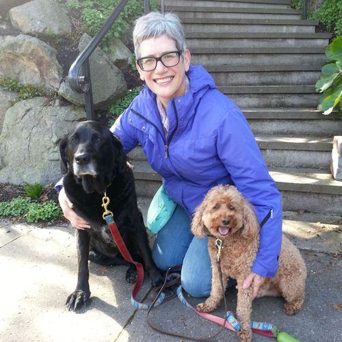 Karen with Gracie and Jack