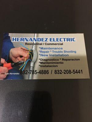 Avatar for Hernandez electric Houston, TX Thumbtack