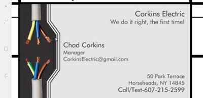 Avatar for corkins electric Horseheads, NY Thumbtack