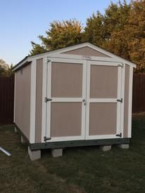 8x10 shed installed on residential property.