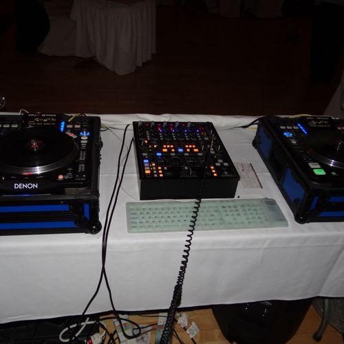 DJ setup at a wedding Keene Cuuntry Club