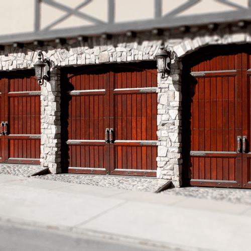 Wood Carriage-House style sectional garage doors can give a dramatic facelift to your home!