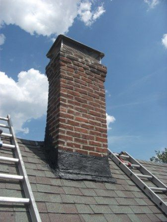 Chimney re-pointed