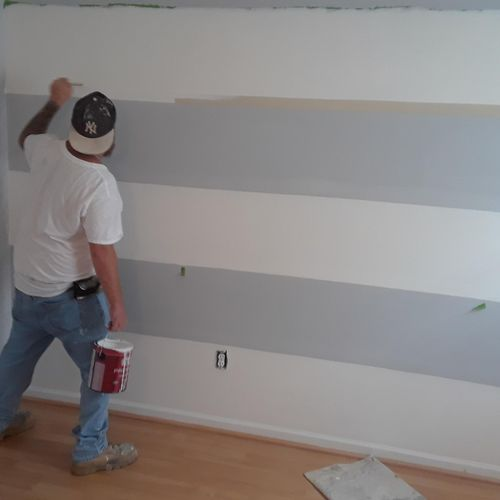"""Correcting the paint lines """"Making them straight free handed"""""""