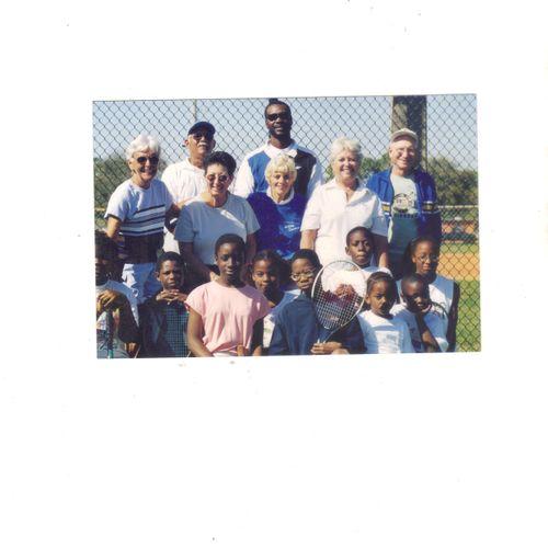 """Tennis match of the Century """"Village"""" featuring seniors vs. juniors"""