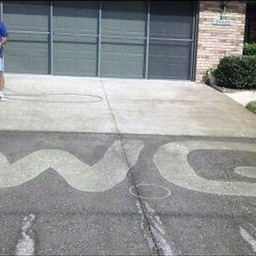 Dirty Concrete? Professional concrete cleaning will restore your driveway, patio & sidewalks.