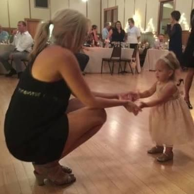 I bring everyone onto the dance floor (even the flower girl!)