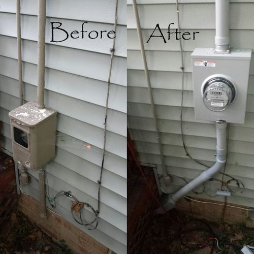 From 60 Amp original Electrical Service to 200 Amp Service Upgrade