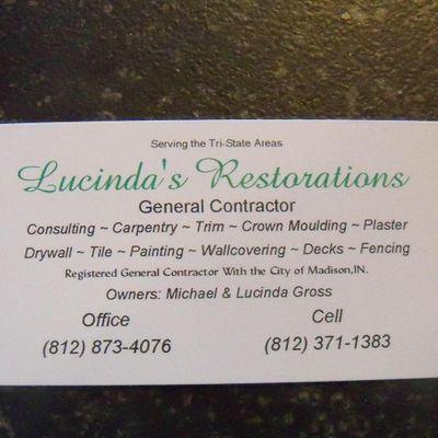 Avatar for Lucinda's Restorations Madison, IN Thumbtack