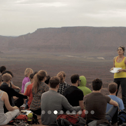 Guiding an Immersion for a retreat in Moab