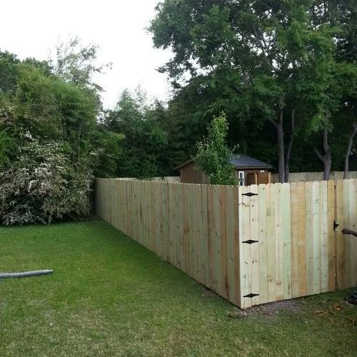 This is the after picture of the privacy fence.