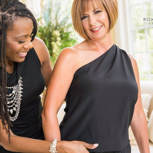 My client feeling fab in her new Ramy Brook one-shoulder jumpsuit! #styledbyroxannecarne
