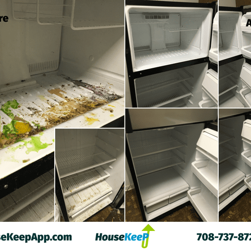 Before and after our fridge cleaning