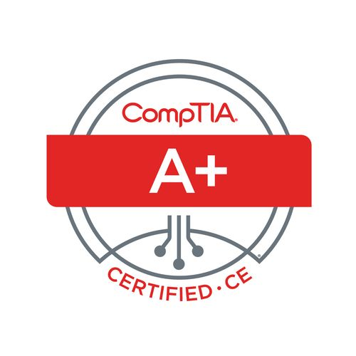 CompTIA A+ Certified  To help repair or build your PC