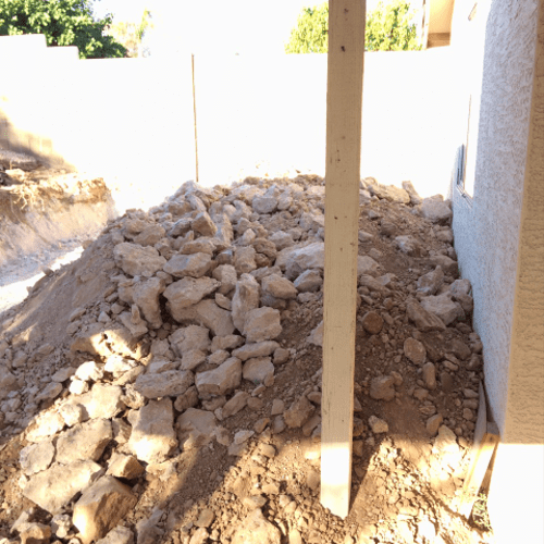 rock removal over 8 cubic yards