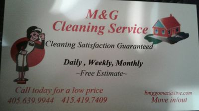 Avatar for M&G cleaning  Services Oklahoma City, OK Thumbtack