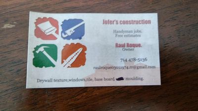 Avatar for Jofer's construction. Tustin, CA Thumbtack