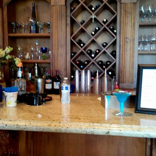 Beautiful in-home bar set-up!
