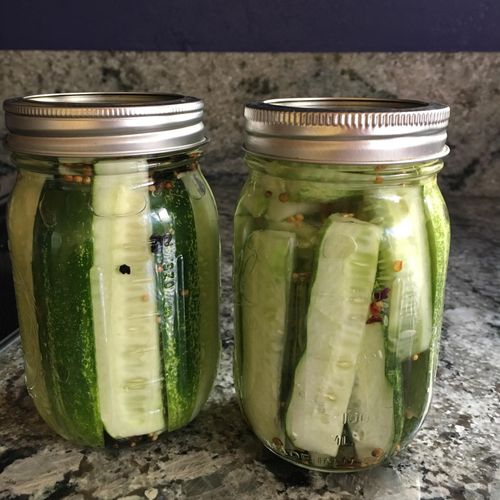 Home made pickles...yumm!