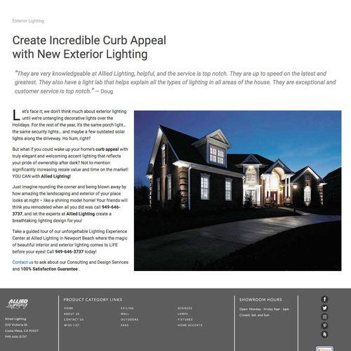 Allied Lighting Website Copy