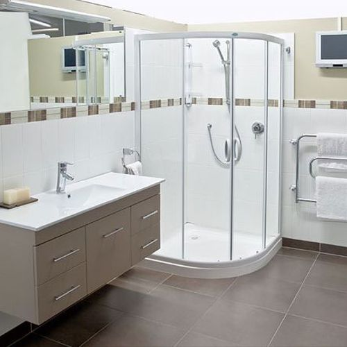 we clean bathroom ,sinks, toilets, showers, tubs, counter, cabinets .