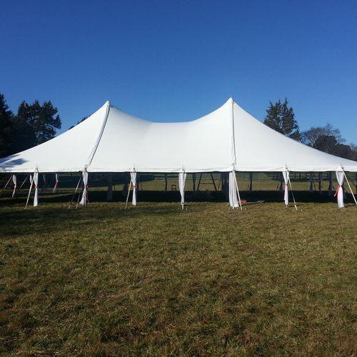 open pole tent