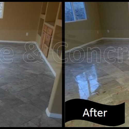 Natural Stone floors can be restored and you save the $$ by not replacing.