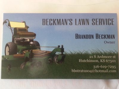 Avatar for Beckman's Lawn Service Hutchinson, KS Thumbtack