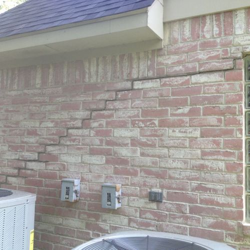 Step Crack on Exterior of Home