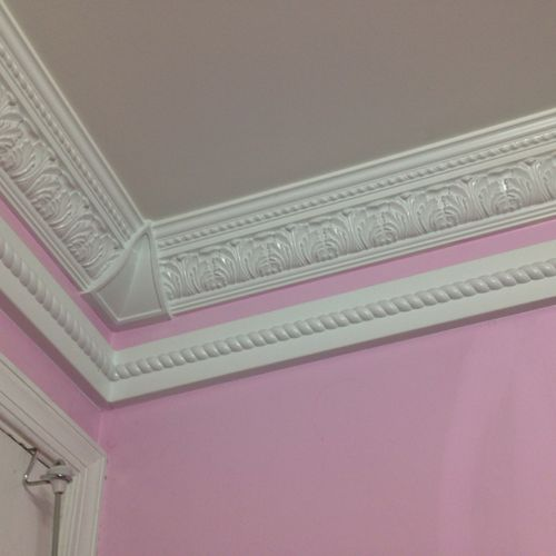 Crown molding trim or paint no matter how difficult or extreme we can do it