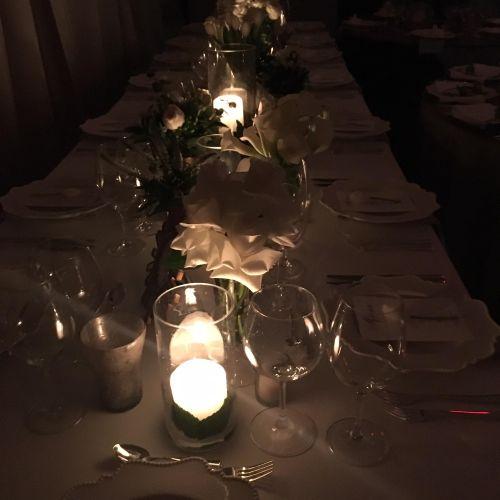 Candle light dinner set for 20