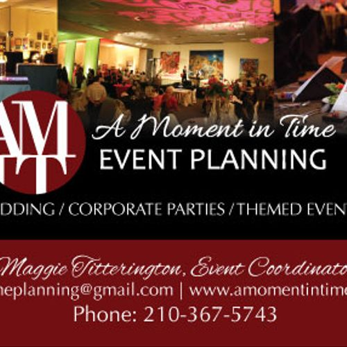 business card design for event planner