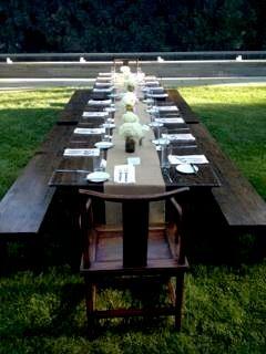 Farmers Market Table- Backyard Dinner Party